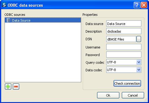 ODBC data sources